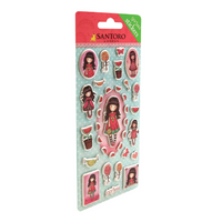 GORJUSS ENAMELED PUFFY STICKERS - Retired and Rare !