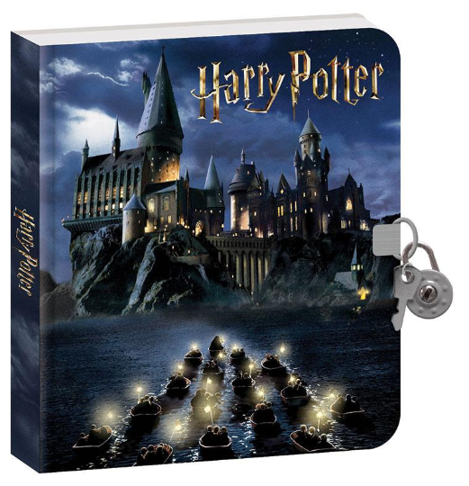 "HARRY POTTER DIARY - HOGWARTs at NiGHT "" - with Lock & Key Plus INViSIBLE Ink Pen !! Easter Gift !!"