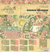 GARDEN GODDESS 12x12 COLLECTION  by Graphic 45  - 12x12 Cardstock with Sticker Sheet