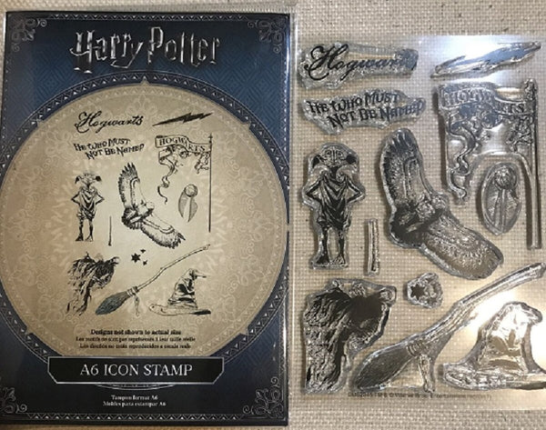 HARRY POTTER (r) A6 ICON STAMP SET - 11 Pieces - RARE !! Warner Brothers/ Universal