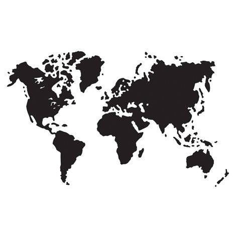WORLD  MAP  -  GLOBAL MAPs EMBOSSiNG FoLDER -  New !!  by Darice  A2 SiZE