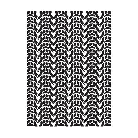 SWEATER KNITTiNG EMBOSSiNG FoLDER -  New !!  by Darice  A2 SiZE for , CARDs, PARTY INVITATIONs, WINTER FuN !