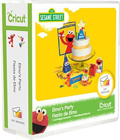 ELMOs PARTY - Cricut cartridge  -SESAME STREET PaRTY THEMe NeW - Sealed - New Smaller Box version