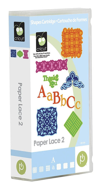 PAPER LACE 2 - CRICUT Cartridge - Cardmaker & Scrapbooking -  Rare and Retired Original Package