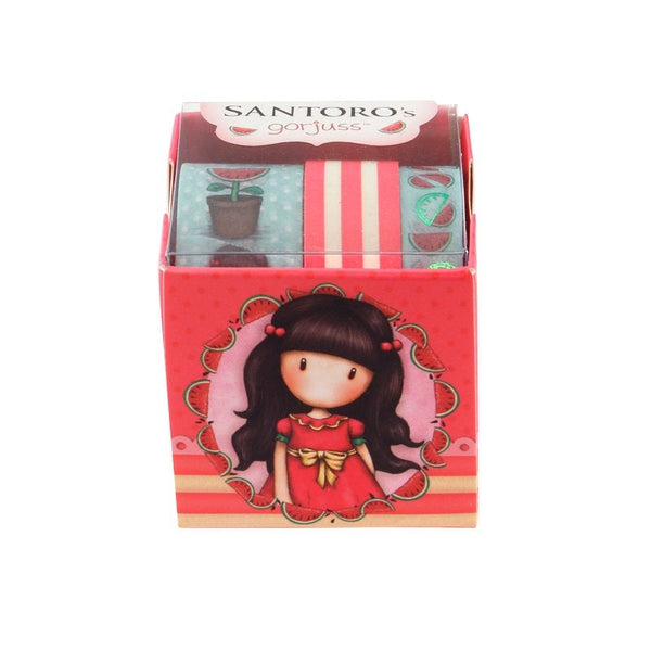 GORJUSS GIRLs WASHI TAPES by Santoro of London - Your Choice of 4 Different Sets !  All New !!