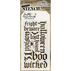 HALLOWEEN STENCILs by Tim Holtz !! HALLOWEEN SCRIPT --  Idea-ology  -  Last one !
