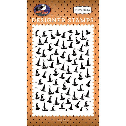 "SORTING HATs STAMP - ""Sorting Hats""  - HALLOWEEN Haunted House  by Carta Bella - So cute & Spooky fun !  -   New and In Stock Now !!"