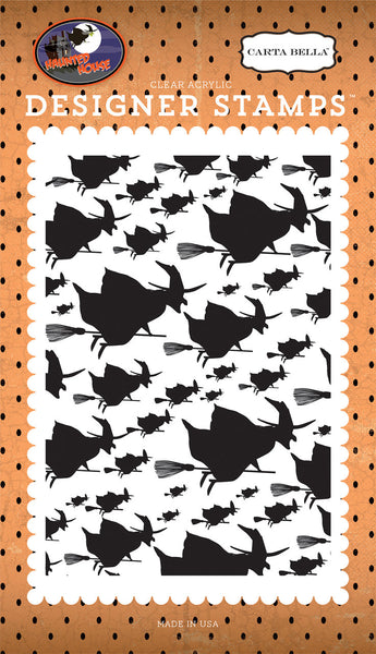 WITCHEs NIGHT OUT STAMPs - HALLOWEEN Haunted House  by Carta Bella - So cute & Spooky fun !  -   New and In Stock Now !!