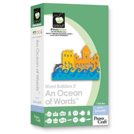 An OCEAN of WORDS  - CRiCUT CaRTRIDGE - New in Pkg - Sealed -RETIRED and RARe - SCHOoL Teachers !!  VOCABuLARY
