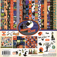 HAUNTED HOUSE HALLOWEEN 12x12 Card Kit by Carta Bella - So cute & Spooky fun !  -   New and In Stock Now !!