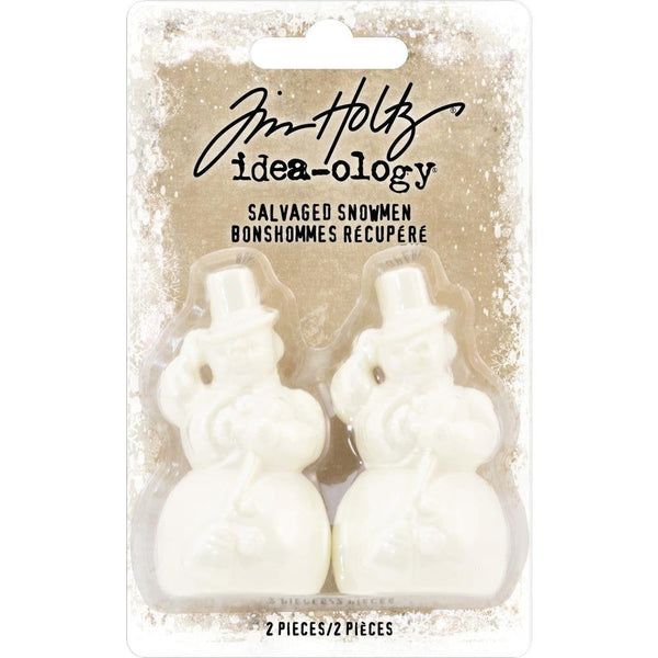 SALVAGED SNOWMEN by Tim HOLTZ -  set of 2 - Ideaology Advantus Christmas 2018