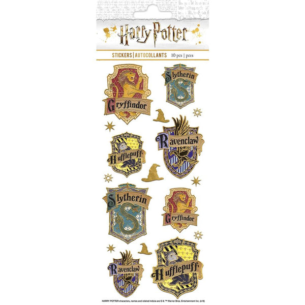 HARRY POTTER FAUX ENAMel STICKERs - New !! - 17 in Pack - Larger Size -  by Paper House for Journals and Cards ! Enamel Button look