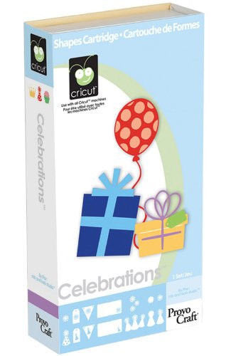 CELEBRATIONS - CRICUT Cartridge  -  - Retired and RArE - Works in All Cricut Machines -