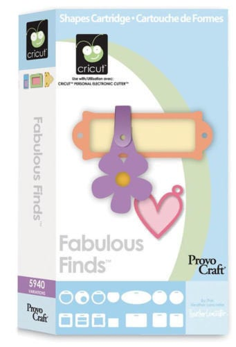 FABULOUS FINDS - Cricut Cartridge - Rare !!  Sealed and BRANd NeW-  ! Tags and Accessories !