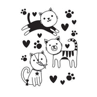 CUTE KITTIES - CATS -  Embossing Folder - A2  - Makes Cute Cards !   Darice 2019 -NeW and Hard to Find