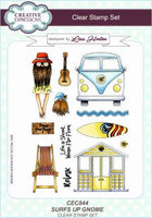 SURF's UP !!  GNOMEs STAMPs Set  by Lisa Horton  for Creative Expressions - Retired & Rare !