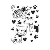 DOGS and PUPPIES CUTE  -  Embossing Folder - A2  - Makes Cute Cards !   Darice 2019 -NeW and Hard to Find