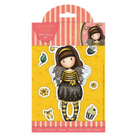 "GORJUSS GIRLs "" BEE LOVED ""  WASHi Tape on Wooden Spool ~  New !!  from DOCRAFTs  SANTOROs - HoneyBee Girl - Bee Cause -"