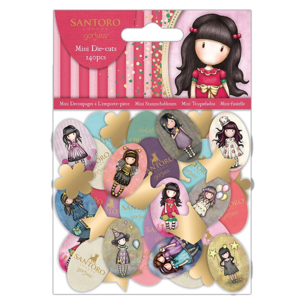 GORJUSS MINI DIE CUTs   by Santoro of London  140 Pieces  in Pack   - #157120