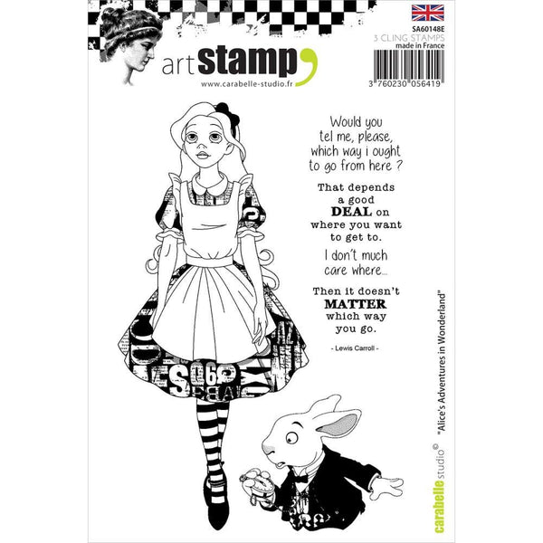 ALICE in WONDERLAND STAMPs -Set by Carabelle Studios -  In Stock Now !