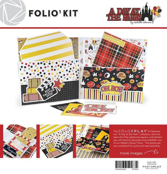 "A DAY AT the PARK - Folio ALBum KiT - New !!  Make your own Folio Style  Mini Album - 6x6"" with DiSNEY Theme !"