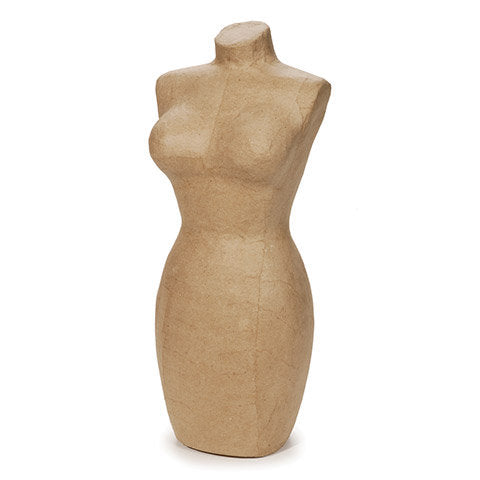 DISPLAY MANNEQUIN - 17 In High -Jewelry Stand or  Bust for Necklaces and Scarves - New !! - Paper Mache'