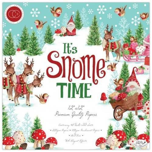 "Craft Consortium "" SNOME TIME "" 12x12 PAPeR PADs   -  CHRISTMAS  GNOMEs - Back In Stock !!"