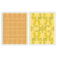 SiZZIX - COUNTRY COTTAGE SET - Lovely Embossing Folder Set  - A2 size- NeW NeW  657113