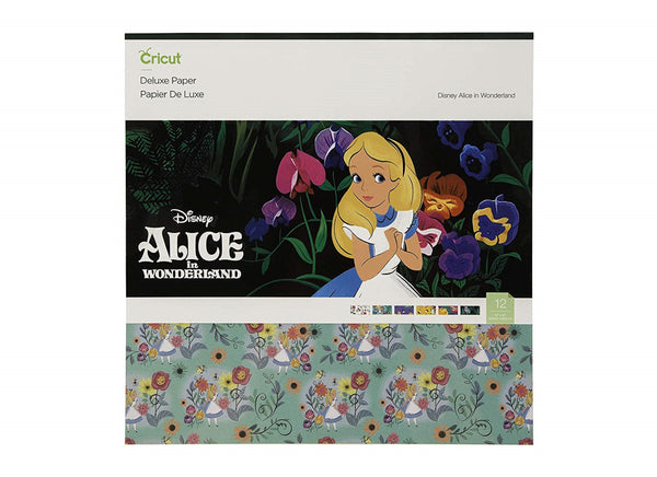 ALICE in WONDERLAND by CRICUT -  DISNEYs Classic  Collection - New !  12X12 SCRAPBOOKiNG PAPERs
