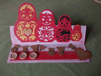 RUSSIAN NESTiNG DOLLs Die Set by XcUT   -  New for XCut, Cuttlebug,  Big Shot, or Other Die Cutting Machines - NEW !