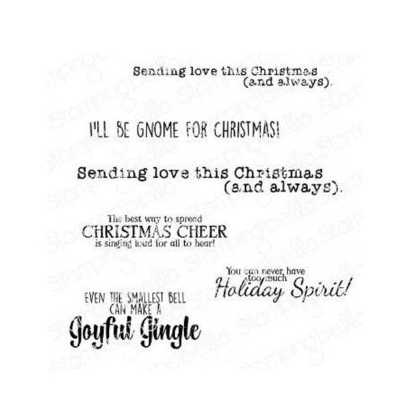 GNOMES CHRISTMAS SENTIMENTs !!   -   by STAMPiNG BeLLA - New !!  EB896