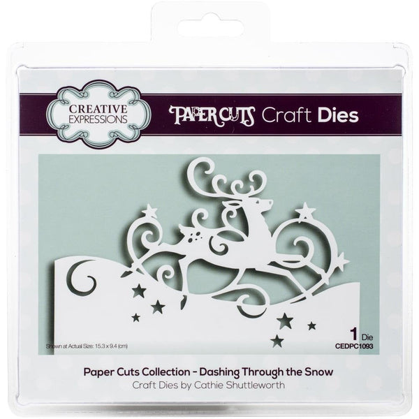 DASHING THRU the SNOW CUTTiNG  DIEs by Creative Expressions  -  CHRISTMaS Cards and Gifts