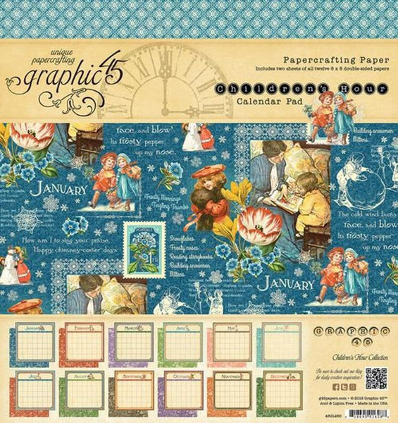 CHILDREN's HOUR 8x8 - CALENDAR Pad Graphic 45   Bound Paper Pad - Retired COllection - Great for Calendars !