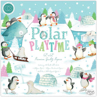 POLAR PLAYTIME by CRAFT CONSORTiUM -  New !!  12x12 Paper Pad - HOLIDAYs Papercrafts and SCRAPBOOKs - !!