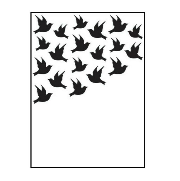 BIRD CORNER EMBOSSiNG FoLDER by DARICE -  A2 Size -  Brand New !!  Friends, Weddings, Funerals, Easter
