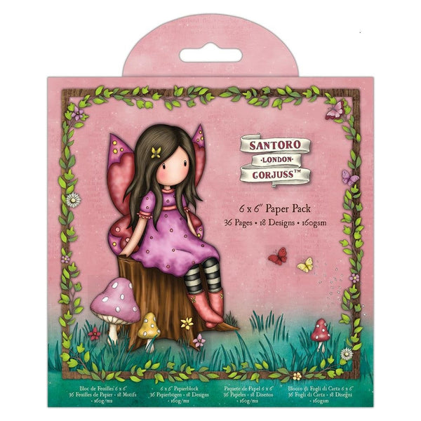 GORJUSS FAIRIE FOLKS PaPER Pack 6x6  by Santoro of London -  Gorjuss Girls - New !! 2020 - Paper Only