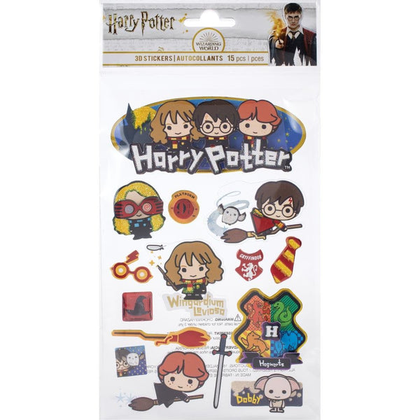HARRY POTTER CHIBI  3D   Stickers -  New !!  15 Pieces !!    STDM321E  from Paperhouse !  Easter Basket Stuffer !!