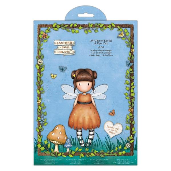 GORJUSS FAIRIE FOLKS  A4 Die Cuts - 48 Pc PaPER Pack by Santoro of London -  Gorjuss Girls  New !!