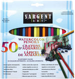 WATERCOLOR PENCILs by SARGENT ART #50 PACK- New !!  Pre-Sharpened Pencils - Can be Used Wet or Dry !