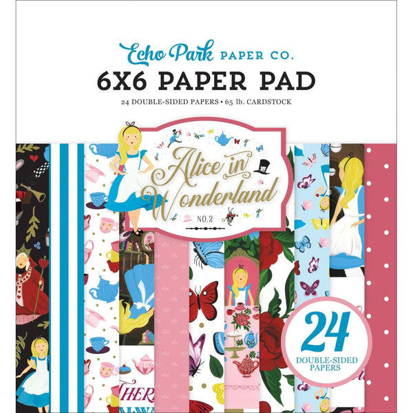 ALICE in WONDERLAND #2   6x6 Paper Pad -  New Collection from ECHO PARk