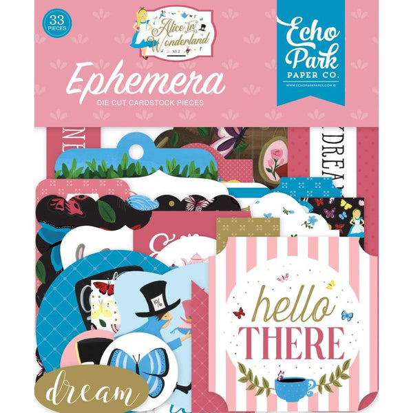 ALICE in WONDERLAND #2  - EPHEMERA Pack -  New Collection from Echo Park !!