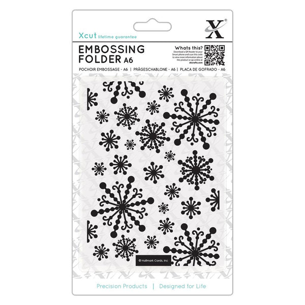 BEAUTIFUL SNOWFLAKES by XCUTs - Imported !!   A6  SiZE -  CHRISTMAS Embossing FOlder