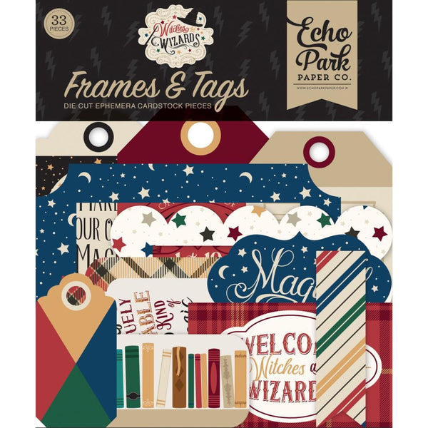 WITCHES & WIZARDS by Echo Park -EPHEMERA and ICONs Choose Option -  Harry P Theme !!  New -In Stock Now !