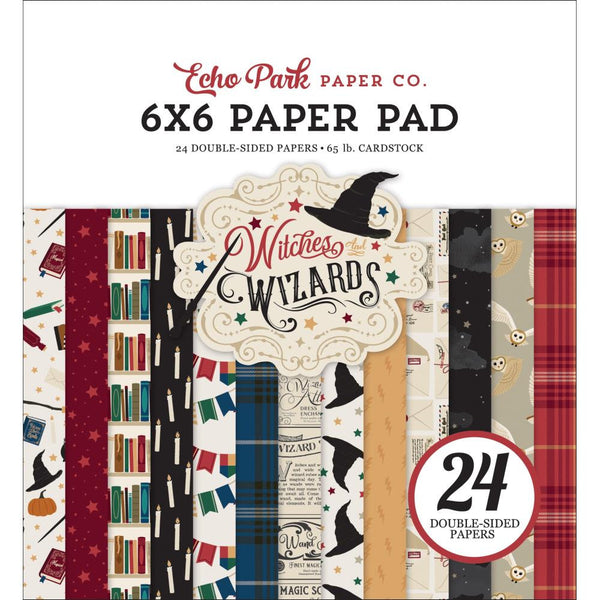 WITCHES & WIZARDS by Echo Park - 6x6 PAPERS Only  @@-  Harry Potter Theme !!  New