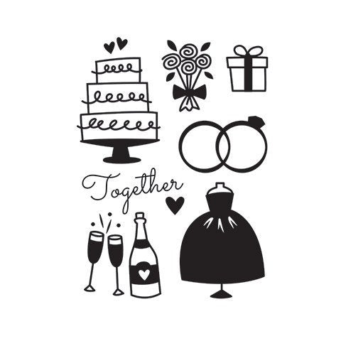 WEDDING ICONS  - EMBOSSING FOLDeR by Darice -VALENTINEs or -GREaT WEDDiNG BRIDe FoLDER