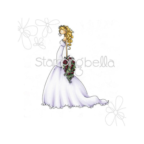 BRIGETTE the BRIDE by STAMPiNG BeLLA -  All New !!  1 stamps in set ** In Stock Now ! EB225 BRIDEs, WEDDINGS