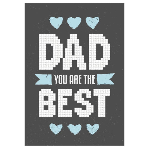 DIAMOND DOTZ - DAD Youre The Best - Fathers Day or Dads Birthday Card -   All New !!