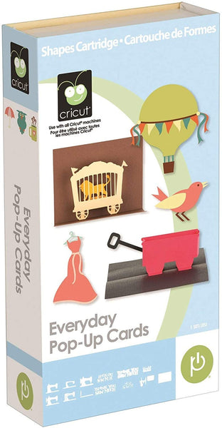EVERYDAY POPUP CARDs - CRICUT Cartridge -    New and Sealed - Last One !  Hard to Find !!
