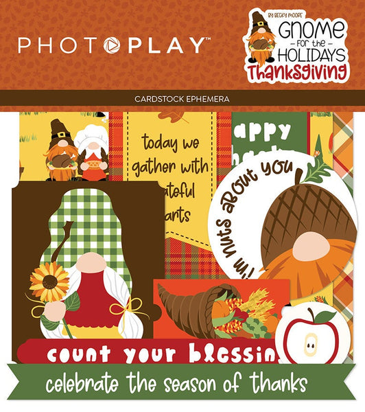 GNOME for THANKSGIVING EPHEMERA Pack  -  GNOMEs - by Photoplay Papers - Autumn and Fall Gnomes -  New !!