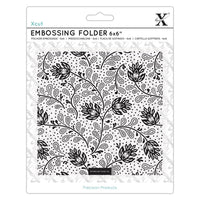 "ABSTRACT THISTLES - 6""x6"" Embossing Folder by XCUTs  - Works in most Manual Embossing Machines like Cuttlebug  - New !"